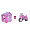 Minnie Mouse Toy House and Moto Ride-On Pack