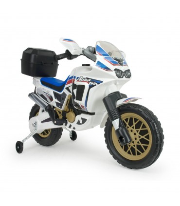 INJUSA HONDA AFRICA TWIN 6V MOTORBIKE in WHITE