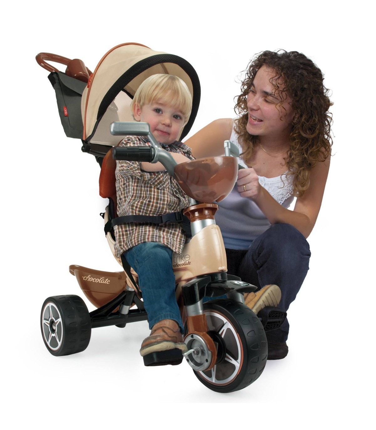 Injusa Max Tricycle in Chocolate Colour