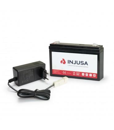 Set Batería y Cargador de Litio de 6V