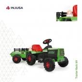 El Tractor Basic 6V de INJUSA tiene un diseño detallado y realista que emula a la mítica marca de tractores John Deere. Su remolque incrementa la diversión al poder cargar y transportar los juguetes de un lado a otro, y los materiales robustos con los que está fabricado garantizan la máxima seguridad. 🚜 . 🟢 Incorpora una sirena que emite luces y sonidos 🔴 Incluye freno eléctrico 🟢 Alcanza los 2-3 Km/h 🔴 Recomendado a partir de 18 meses 🟢 Fabricado con materiales robustos 🔴 Soporta hasta 30 kg de peso 🟢 Incluye un remolque que se engancha en la parte trasera . ¡Disponible en la web!  . . #tractor #tractoreléctrico #vehículoeléctrico #industriajuguetera #juguetes #madeinspain #INJUSA