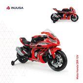 Resulta imposible resistirse a la moto Honda CBR 12V de Injusa en color rojo, ergonómicamente diseñada para que la conducción del niño sea cómoda y adaptada. 🏍  ⭕️ Acelerador en el puño derecho ⭕️ Bandas de goma en ruedas ⭕️ Luces y sonidos ⭕️ Conexión MP3 ⭕️ Alcanza los 5-6 Km/h ⭕️ Soporta hasta 30 kg de peso ⭕️ Recomendada de 3 a 6 años  ¡Disponible en la web!  ➡️ www.injusa.com  . . #moto #motoeléctrica #motorbike #Honda #motoHonda #motorbikeHonda #juguetes #madeinspain #industriajuguetera #Injusa @hondamotoses