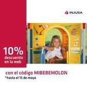Recuerda que hasta el sábado 15 de mayo puedes beneficiarte de un 10% de descuento en todos los productos de nuestra web insertando el código MIBEBEMOLON. 👏🏼👏🏼  ¡Entra ya en www.injusa.com! 🏃🏽♂️  . . #códigodescuento #páginaweb #juguetes #madeinspain #juego #niñas #niños #industriajuguetera #Injusa