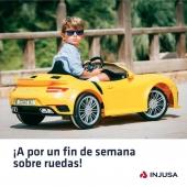 ¡Vamos a por un fin de semana increíble!   Y mucho mejor si es con nuestro modelo Porsche 911, que proporciona una conducción segura y de máximo confort.   Eso sí, no olvides refrescarte a menudo, protegerte del sol y beber mucha agua para combatir las altas temperaturas.🌡 . . #findesemana #coche #cocheeléctrico #Porsche #Porsche911 #juguetes #madeinspain #INJUSA