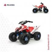 El quad Honda ATV 12V de INJUSA posee un diseño y detalles muy realistas que consiguen que se asemeje a los quads de verdad. Además es un modelo muy estable, seguro y resistente. . ⭕️ Alcanza los 4-5 Km/h ⭕️ Cambio de marcha, permitiendo la marcha atrás ⭕️ Recomendado a partir de 3 años ⭕️ Soporta hasta 50 kg de peso  ⭕️ Ruedas anchas reforzadas con bandas de goma en el centro para ofrecer un mayor agarre con la superficie  . . #quad #quadeléctrico #Honda #quadHonda #quadeléctricoHonda #quadHonda12V #industriajuguetera #juguetes #toys #madeinspain #INJUSA