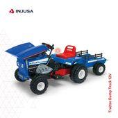 Con el tractor Dump Track 12V de Injusa tu peque puede convertirse en un auténtico agricultor. Este modelo, que destaca por incluir un volquete movible en la parte delantera para cargar y descargar, lleva también un remolque en la parte de atrás para que pueda transportar sus juguetes. 🚜  🔵 Incorpora freno, acelerador y marcha atrás 🔴 Incluye una sirena que emite luces y sonidos 🔵 Alcanza entre 4 y 5 km/h 🔴 Recomendado a partir de 36 meses 🔵 Soporta hasta 35 kg de peso  Y recuerda que gracias al sistema de pago aplazado, puedes pagarlo de forma segura en cómodos plazos. 😊  ¡Míralo en la web! 👉🏽 www.injusa.com  . . #tractor #tractoreléctrico #vehículoeléctrico #DumpTrack #industriajuguetera #juguetes #madeinspain #Injusa
