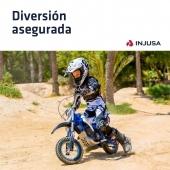 La moto X-Treme Blue Fighter 24V de INJUSA va dirigida a los niños más mayores, con una edad mínima recomendada a partir de los 6 años. Su chasis reforzado y la fuerza de su motor, capaz de alcanzar una velocidad máxima de 12 Km/h, la convierten en una moto infantil con el aspecto de una verdadera moto de cross. 🏍 . ¡Disponible en nuestra web!  . . #moto #motocross #motoeléctrica #motorbike #BlueFighter #BlueFighter24V #industriajuguetera #juguetes #madeinspain #INJUSA