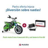 ¡𝗗𝗜𝗩𝗘𝗥𝗦𝗜𝗢́𝗡 𝗦𝗢𝗕𝗥𝗘 𝗥𝗨𝗘𝗗𝗔𝗦! 🏍  Ya no hay excusas para que tu peque viva horas y horas de aventuras gracias al pack oferta que incluye la moto Thunder Kawasaki 6V y el set de batería de litio 6V, y lo mejor de todo ¡a un precio que no imaginas! 🥳  Míralo en la web ➡️ www.injusa.com  . . #packs #packsInjusa #verano #páginaweb #moto #motorbike #motoeléctrica #motoKawasaki #bateríalitio #juguetes #madeinspain #industriajuguetera #Injusa @kawasaki_espana