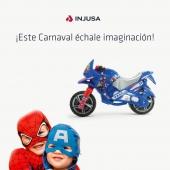 Que nunca nos falte la imaginación, sobre todo si se trata de una fiesta como el Carnaval. 🎭 . Por eso te proponemos disfrazar a tu peque a juego con su juguete INJUSA preferido, una forma muy divertida de combinar creatividad e ingenio con el juego. 🦸♀🦸🏻♂️ . . #Carnaval #juego #creatividad #imaginación #ingenio #niñas #niños #juguetes #industriajuguetera #madeinspain #INJUSA