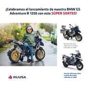 ¿Quieres GANAR uno de estos dos súper modelos? Queremos celebrar el lanzamiento de nuestra nueva moto BMW con este sorteo, ¡participa! 🏍 Solo tienes que:  1️⃣ SER SEGUIDOR de la página;  2️⃣ Dejar un COMENTARIO en este post; 3️⃣ Decírselo a vuestros amigos (nos facilitará mucho la tarea si lo hacéis de manera pública).  ⏱ Podéis participar desde cualquier país del mundo hasta el 9 de septiembre a las 12.01 pm (hora española). ¡Mucha suerte! ☘️  ⚠️ Nuestras publicaciones son las únicas oficiales. El ganador/a se publicará únicamente en este post, no os enviaremos ningún mensaje. ⚠️  Para + info sobre estos juguetes:  👉🏽 La moto BMW 1250 GS Adventure 12V tiene un gran realismo, que se debe a su espectacular exterior y a sus increíbles extras, como la maleta trasera y el kit de equipaje.  👉🏽 La moto BMW 1250 GS Adventure 24V posee un gran realismo y entre sus principales características destacan sus llantas de metal con ruedas hinchables de 12 pulgadas, que permiten desplazarse por superficies inestables.  *Condiciones: Los datos de los participantes serán incorporados en un fichero titularidad de Injusa y se tratarán conforme a las disposiciones de la ley de protección de datos. Los participantes podrán ejercitar los derechos de acceso, rectificación, cancelación y oposición de los datos, mediante la remisión de un mensaje en nuestro perfil de Instagram.  En caso de resultar ganador/a podríamos pedir entrar en vuestro muro tras el sorteo para comprobar que habéis cumplido con los requisitos. En caso contrario, se realizará de nuevo el sorteo. El/la ganador/a deberá elegir uno de los dos modelos que se sortean y tendrá una semana para contactar con nosotros, de no ser así, repetiremos el sorteo entre los mismos participantes. La participación implica la aceptación de las condiciones. Injusa se reserva el derecho de eliminar de la promoción por causa justificada a cualquier usuario que defraude, altere o inutilice el buen funcionamiento y el transcurso normal y reglamen
