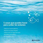 ¿Sabías que los océanos constituyen el 70% de la superficie terrestre? Eso supone más de dos tercios del total, por lo que es importante que nos concienciemos de la necesidad de preservarlos. 😉  Os presentamos unas pautas muy sencillas para que nuestros peques sepan cómo protegerlos y se conviertan en defensores del medio ambiente. 💪🏽  Porque cada pequeña acción cuenta, ¡Feliz Día Mundial de los Océanos! 🌊  . . #8junio #DíaMundialdelosOcéanos #WorldOceansDay #océanos #ecosistema #medioambiente #niños #niñas #Injusa