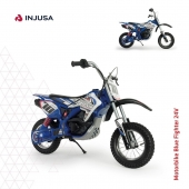 ¡Pisa fuerte con la moto Blue Fighter 24V de INJUSA! 🏍  . Sus características y la gran fuerza de su motor le confieren un aspecto cross como las motos de verdad.  . 🔹 Aceleración progresiva en puño 🔹 Freno de tambor 🔹 Alcanza los 12 Km/h 🔹 Ruedas hinchables 🔹 Chasis reforzado 🔹 Recomendada de 6 a 10 años 🔹 Incorpora caballete . . #moto #motocross #motoeléctrica #motorbike #BlueFighter #industriajuguetera #juguetes #madeinspain #INJUSA