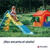 El otoño es una estación perfecta para disfrutar de los juegos al aire libre y descubrir los colores que nos regala esta época del año. 🍁 . Además, el juego al aire libre trae consigo muchos beneficios físicos y psicológicos para los peques. En INJUSA contamos con casitas, areneros y toboganes que les ayudan a mejorar sus capacidades motrices, potenciar su creatividad e independencia y disfrutar del sol. ☀️ . . #casitas #toboganes #areneros #otoño #juego #juegolibre #airelibre #outdoor #juguetes #toys #toyhouse #kids #industriajuguetera #madeinspain #INJUSA