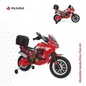La moto Honda África Twin 6V de Injusa en color rojo es el modelo ideal para atraer todas las miradas. Incluye una maleta en la parte de atrás con capacidad para almacenar un casco. Además luce guardabarros, empuñaduras, amortiguadores y tubo de escape, imitando así a las auténticas motos trail. 🏍 . 🔴 Acelerador en el puño derecho 🔴 Freno eléctrico para mayor seguridad 🔴 Ruedas de apoyo traseras que facilitan la estabilidad y su manejo 🔴 Alcanza los 5-6 Km/h 🔴 Soporta hasta los 35 kg de peso 🔴 Recomendada a partir de 3 años . ¡Mírala en la web! ➡️ www.injusa.com  . . #moto #motoeléctrica #mototrail #motorbike #Honda #motoHonda #motorbikeHonda #industriajuguetera #juguetes #madeinspain #INJUSA