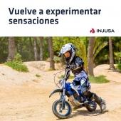 Lo prometido es deuda... ¡Vuelve la moto más deseada de este año! 👏🏼👏🏼 . Con la moto X-Treme Blue Fighter 24V de INJUSA, recomendada a partir de los 6 años, tu peque disfrutará de nuevas sensaciones gracias a la fuerza de su motor, capaz de alcanzar una velocidad máxima de 12 Km/h. 🏍 . ¡Ya disponible en nuestra web!  ▶️ cutt.ly/jgJWKZj . . #moto #motocross #motoeléctrica #motorbike #BlueFighter #BlueFighter24V #industriajuguetera #juguetes #madeinspain #INJUSA