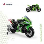 La moto Kawasaki ZX10, con una batería de 12V, está licenciada por la marca nipona Kawasaki e incluye varios extras y mejoras de diseño, imitando los gadgets que incluye una moto Kawasaki a tamaño real. 🏍 . 🟢 Luces delanteras y traseras 🟢 Bandas de goma en ruedas para un mejor agarre  🟢 Incluye altavoz con sonidos incorporados 🟢 Conexión MP3 🟢 Incorpora ruedas traseras estabilizadoras para mayor seguridad 🟢 Alcanza los 5-6 Km/h 🟢 Recomendada a partir de 3 años . ¡Consíguela en la web! 👉🏽 cutt.ly/VhFWRTq . . @kawasaki_espana @kawasakimotors #moto #motoeléctrica #motoracing #motodeportiva #motorbike #Kawasaki #motoKawasaki #motorbikeKawasaki #industriajuguetera #juguetes #madeinspain #INJUSA