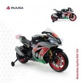 La moto racing Aprilia RSV 12V impresiona por su diseño deportivo, como las actuales motos racing de verdad. Una moto fabricada con materiales muy resistentes, totalmente equipada y segura gracias a las bandas de goma que llevan sus ruedas y con las que se consigue un mayor agarre, sobre todo en superficies irregulares. 🏍 . ✅ Incorpora luces y sonidos ✅ Conexión MP3 ✅ Ruedines estabilizadores ✅ Incluye bandas de goma en ruedas ✅ Alcanza los 5-6 Km/h ✅ Recomendada a partir de 3 años . ¡Disponible en nuestra web!  👉🏽 www.injusa.con . . #moto #motoeléctrica #motoracing #motodeportiva #motorbike #Aprilia #ApriliaRSV #Aprilia12V #industriajuguetera #juguetes #madeinspain #INJUSA